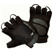 WHEELCHAIR CYCLE GLOVES WITH LIQUICELL HALF FINGER HATCH SIZE LARGE