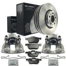 2x Bremssattel + Bremsbeläge + Bremsscheiben vorne Volvo S60 S80 I V70 II XC70