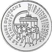 Deutschland 25 Euro 2015 BRD 25 Jahre Deutsche Einheit Gedenkmünze prägefrisch