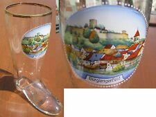 Ansichten Glas Stiefel Burglengenfeld 0,5 Liter ANSCHAUEN !!!