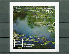 Gambia 2014 MNH World Famous Paintings I 1v Imperf S/S Water Lilies Claude Monet