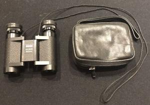 Zeiss Mini Binoculars 6 x 20 B West Germany Leather Pouch