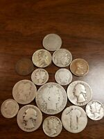 2 Dollar Face Value 90% Silver US Coins Half Quarters Dimes With Bonus Coins