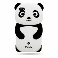 3D Panda Silicone Gel Case for Applie iPhone 4 4S 4G
