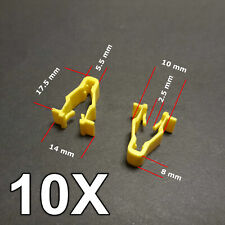 10X Yellow wheel arch trim clips for Honda Civic, CRV & HRV
