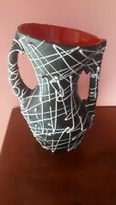 1950s French Vallauris pottery scrafitto large vase