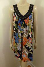 Tiana B. Multi-color V-neck Sleeveless Tunic Top Woman Size XL
