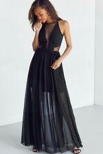 Dress the Population Claire Mesh Maxi Dress Black Medium $286