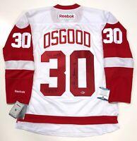CHRIS OSGOOD SIGNED DETROIT RED WINGS 400th WIN REEBOK JERSEY BECKETT COA