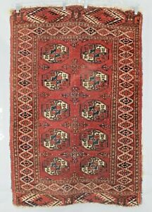 Turkish Rug 31 x 46 Antique Elephant Foot Turkomen Rug 55011Z