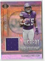 2019 Illusions Alexander Mattison Great Expectations Jersey Relic Rookie SP