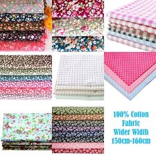 """100% Contton Fabric Roses Polka Dots Gingham Floral 160cm width (63"""") UK seller"""