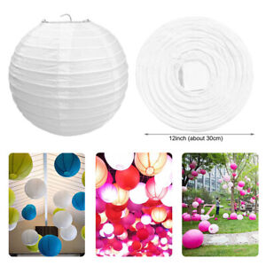 Round Ribbed Lampshade Paper Lantern For Wedding Xmas Party Decor Creative