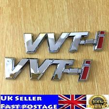 2x VVT-i Toyota adhesivo con el logotipo insignia emblema de ABS Plateado Avensis Corolla Yaris TS
