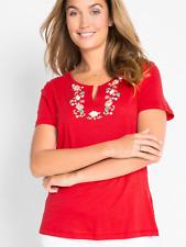 Bonprix @ Kaleidoscope Size XS 6 8 Strawberry Folklore T-Shirt Spring Summer