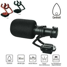 Commlite CoMica Compact On-camera Cardioid Microphone Mic For Smartphone GH4 A7