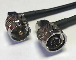 3 feet RG58 N FLANGE FEMALE to N MALE Pigtail Jumper RF coaxial cable 50ohm High Quality Quick USA Shipping