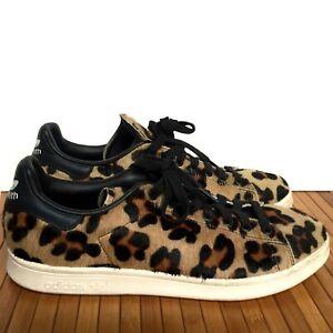 Adidas Stan Smith Pony Hair Leopard Sneakers Size 9