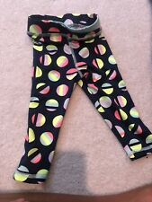3T Cat and Jack Navy And Neon Leggings Crop
