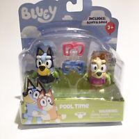Bluey /& Bingo 2 Pack POOL TIME Figures 2 Pk BLUEY TV SHOW Mini Figurines Goggles