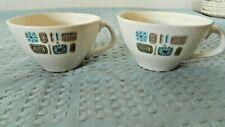 Canonsburg Temporama Pair of Cups Mid-Century Atomic Style