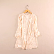 Women 100% Silk Cardigan Beach Cover Up Top long Sleeve Open Front Au Size 8-10