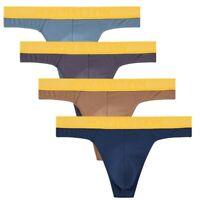 4 x Men Thongs G-string Sexy Underwear T-back Summer Jockstrap Pants Underpants