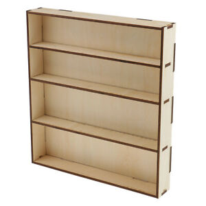 Wooden Paint Rack Modular Organizer Paint Storage Holder Model Stand