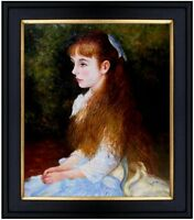 Framed Hand Painted Oil Painting Repro Renoir Pierre Mademoiselle Irene 20x24in
