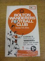 29/11/1969 Bolton Wanderers v Queens Park Rangers  (Light Crease). Good conditio