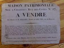 chartres 28 - 1818 - vente maison - rue des cotes n° 17
