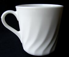 2 CORELLE CORNING ENHANCEMENTS WHITE CUPS MUGS