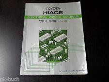 Werkstatthandbuch Elektrik / Electrical Wiring Diagram Toyota Hiace, 08/1989