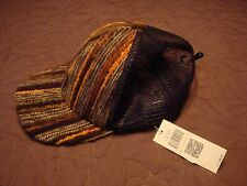 Multi Color Brown Stripe Textured Bill COLLECTIONEIGHTEEN $20 value Baseball Cap