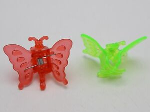 25 Mixed Color Plastic Cute Butterfly Clamp Hair Claw Clips 38X30mm for Kids
