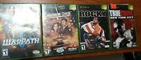 X BOX GAME BUNDLE: ROCKY, TRUE CRIME: NEW YORK, WARPATH, MAXIMUM CHASE