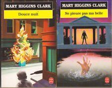 Lot de 2 livres Mary Higgins Clark - Douce nuit + Ne pleure pas ma belle