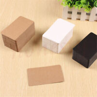 100Pcs Greeting Blank Kraft Paper Business Cards DIY Paper Label Name Tag Tag