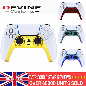 PS5 Custom Replacement Controller Trim Faceplate Shell Playstation 5 Chrome