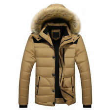 Men's Duck Down Coat Thicken Warm Outwear Parka Hooded Jacket Outwear Outdoor