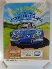 Affiche 2018  Fête du timbre Marseille Alpine Renault / PB21