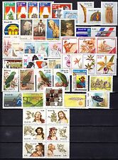 Brazil - 1980 - Complete Year - 49 stamps - 3 Souvenir Sheet - Mint Never Hinged