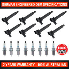 8x Genuine NGK Iridium Spark Plugs & 8x Ignition Coils for Lexus LS430 Toyota