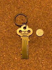 Property Of Alcatraz San Fran CA Key Ring Keychain Federal Pen Psycho Ward Brass