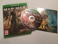 XBOX ONE XB1 GAME MAD MAX PAL DISC IS EXCELLENT CONDITION COMPLETE