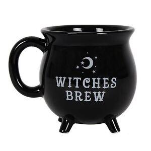 Witches Brew Cauldron Mug Black Mug 10cm High Tea Coffee Soup Cup
