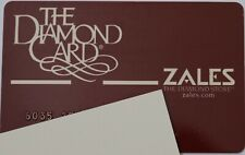 Zales The Diamond Card Department Store Credit Card Expired Collectible 2001