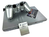Silver Playstation 2 Slim PS2 Console + Dual Shock Controller PAL