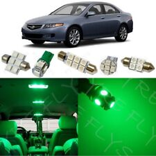 12x Green LED Interior Lights Package Kit for 2004-2008 Acura TSX + Tool AT2G