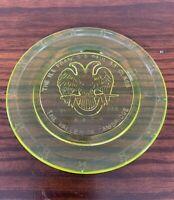 Boyd Glass Valley Of Cambridge Ohio Freemason A.A.S.R. Francis G Paul 33* Plate